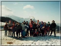 zimowisko z nartami